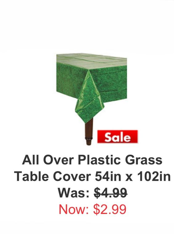 Grassy Table Cover Now on Sale! Perfect for Super Bowl or any Football Party! -M-