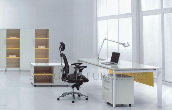 Hot Item Sz Od075 Modern Sun Gold Office Furniture Factory Table High Gloss White Office Desk Office Furniture Modern High Gloss White Office Desk White Desk Office