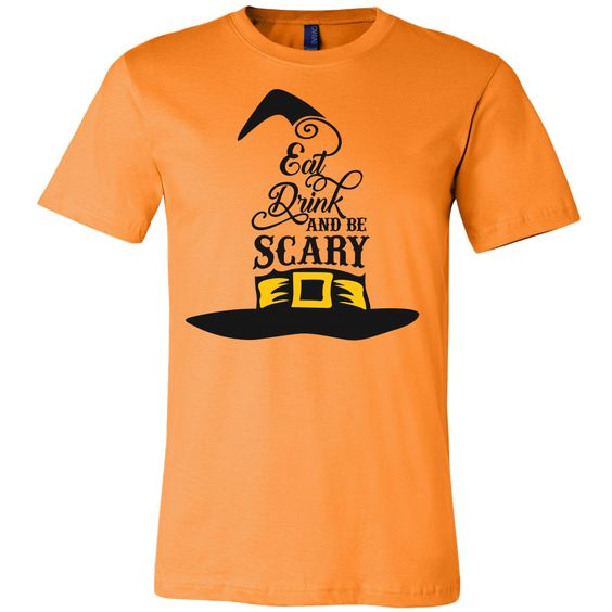 Eat, drink and be scary Men Short Sleeve Halloween T Shirt - TL00654SS