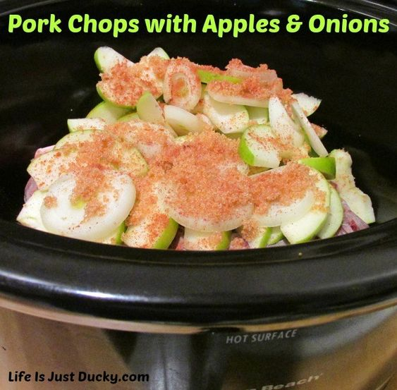 Pork Chops With Apples And Onions Recipe Apple Pork Chops
