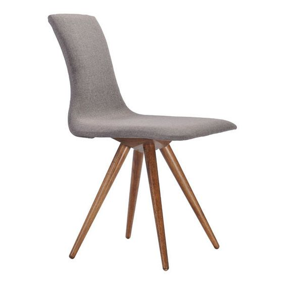Downtown Dining Chair Flint Gray Slender shapes and clean lines in rubberwood define the Downtown Chair's comfort and look.  With textured polyblend fabric, this chair gives a warm look to any contmporary space.  It is a great piece of design <br><br>Dimensions: 20W, 22.8D, 33.3H