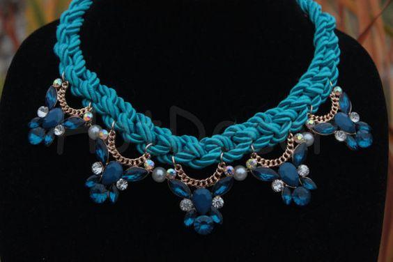 Statement Necklace Rhinestone necklace Crystal by HotDecor on Etsy, $24.99
