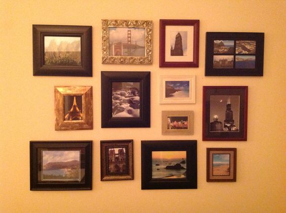 Scenic pictures from different places we traveled to that I took myself all put in random frames.