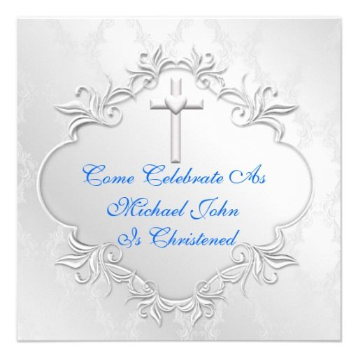 BOYS CHRISTENING Invitations Elegant Design   INVITATIONS   Pinterest   Boys, Christening ...