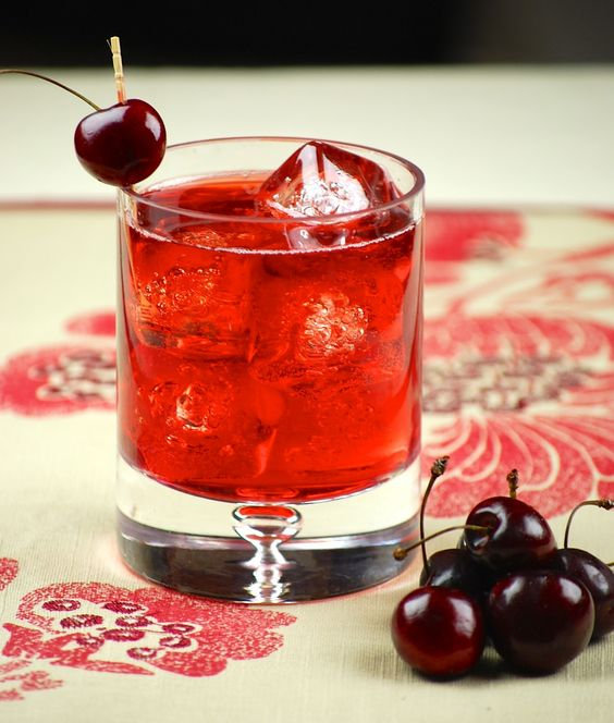 cherry-infused cocktail
