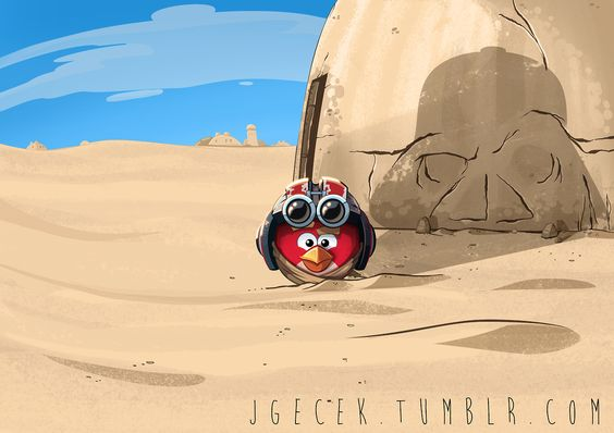 Here is a rejected teaser poster I did for Rovio for Angry Birds Star Wars 2.