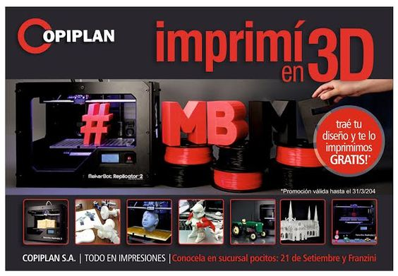 A imprimir en 3D Gratis en Pocitos!!!