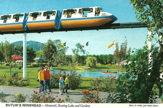 Butlins Minehead - Monorail, Boating Lake and Gardens