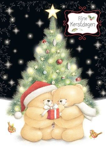 De beertjes van Forever Friends wensen jou fijne feestdagen!  #Hallmark #HallmarkNL #kerstkaart
