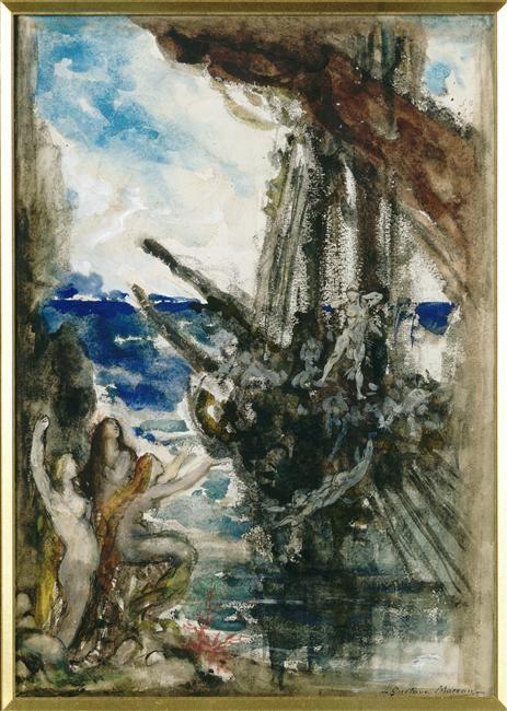 'Ulysse et les sirènes' by Gustave Moreau