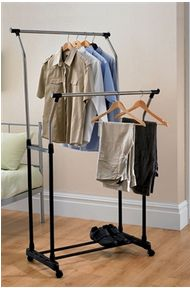 Creates extra hanging space - ideal if your wardrobe is bursting withclothes and accessories.