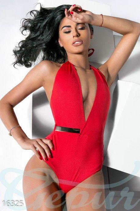 #яркий #красный #цельный #купальник #пляжный #соблазнительный #стильный #модный #в #бассейн http://gepur.com/