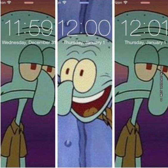 How I'll react tonight. Anyway, Happy New Year everybody!