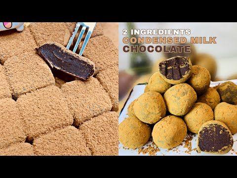 2 Ingredients Condensed Milk Chocolate Truffles No Bake Pang Negosyo Youtube In 2020 Chocolate Truffles Truffle Recipe Chocolate Truffles