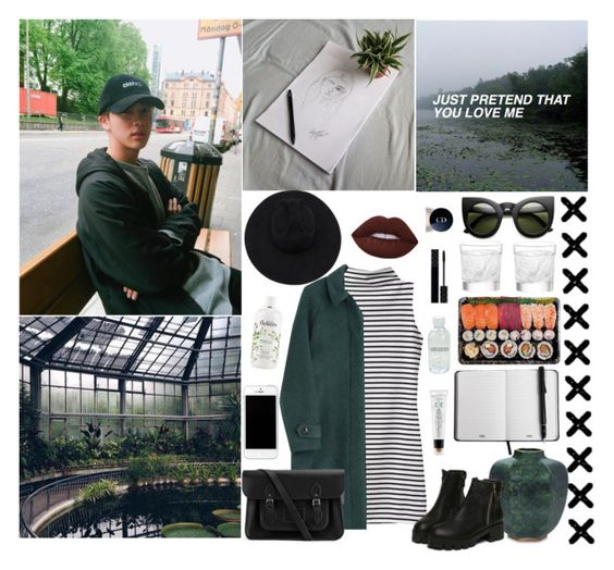 """JUST PRETEND THAT YOU LOVE ME"" by milda-mint ❤ liked on Polyvore featuring CO, AERIN, Burberry, philosophy, too cool for school, Lalique, Gladys Tamez Millinery, Gucci, Lord & Berry and Lime Crime"