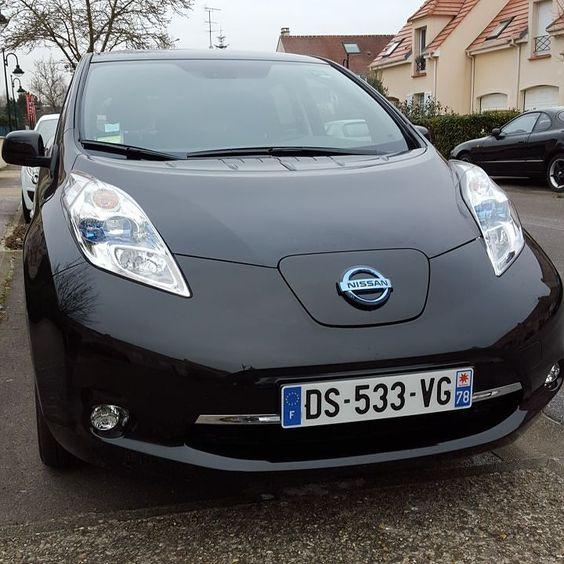 Nouvel essai de l'année avec #MadameFigaro #Nissan #Leaf #ev by envoiturecarine
