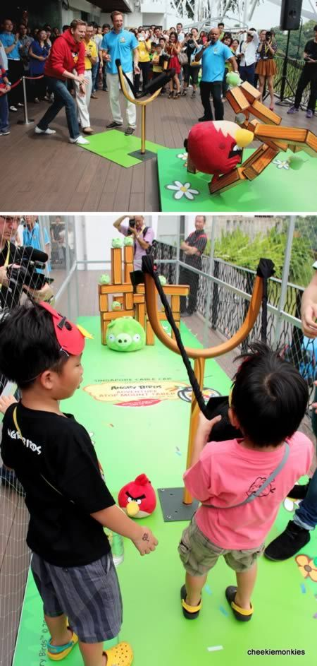 You can play ANGRY BIRDS in real life!  :)  THAT'S SO COOL! :o)