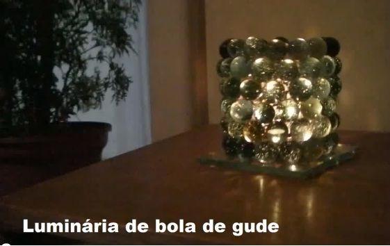 Como Fazer Luminária com Bolas de Gude