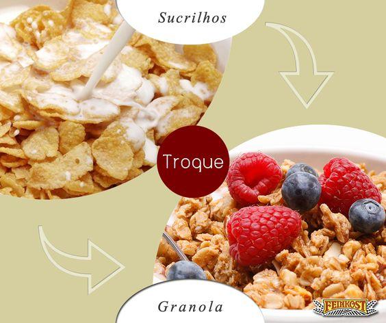 Substitua alimentos pobres em nutrientes e ricos em gordura e açúcares por alimentos mais nutritivos. Opte por alimentos integrais, naturais, com maior quantidade de fibras, e abandone o açúcar refinado.