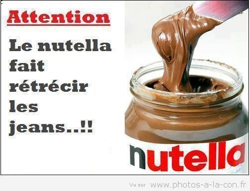 Attention, le Nutella fait rétrécir les jeans: