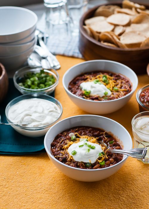 Bean chili, Chili and Beans on Pinterest