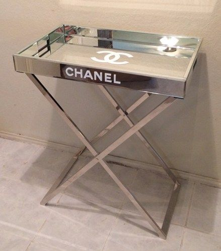 Mirrored Tray For Coffee Table: Fabulous, Mirrored Replica Chanel Tray Table, Cocktail