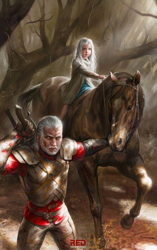 Geralt and Ciri :O