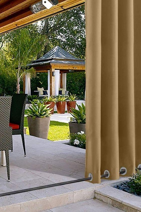 Gleiche Farbe vorne und hinten. Lichtkontrolle, UV-Strahlenschutz, Wärmedämmung, Schimmelpilzbeständigkeit, Lichtechtheit. Gardinen ohne Liner behindern 85%-99% Licht und UV-Strahlung. Grommet-Lochdurchmesser 4 CM. Oben und unten haben beide Grommets. Das Aufhängen mit Vorhangstangen und Seil am Boden für regnerische Tage kann Wind und Regen fernhalten. An anderen Tagen bringt das Grommet am Boden eine schöne Menge an Gewicht... *Pin enthält Werbelinks