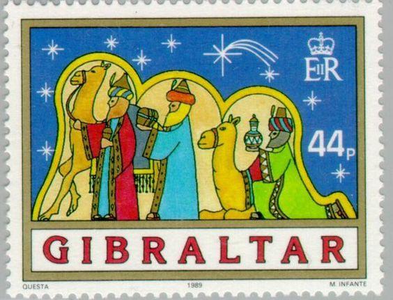 Stamp: Christmas (Gibraltar) (Christmas (1989)) Mi:GI 589,Sn:GI 561,Yt:GI…