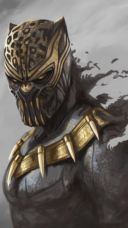 Black Panther Erik Killmonger Iphone Wallpaper Black