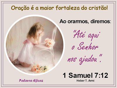 Palavra e Ação : Oração é a maior fortaleza – 1 Samuel 6