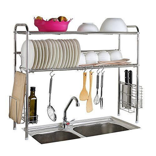 Amazon Com Ikea Steel Kitchen Organizer Set 2 Rails And 20 Hooks