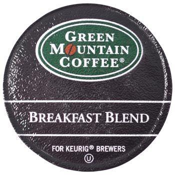 Green Mountain Coffee Breakfast Blend K-Cups 96ct Mild