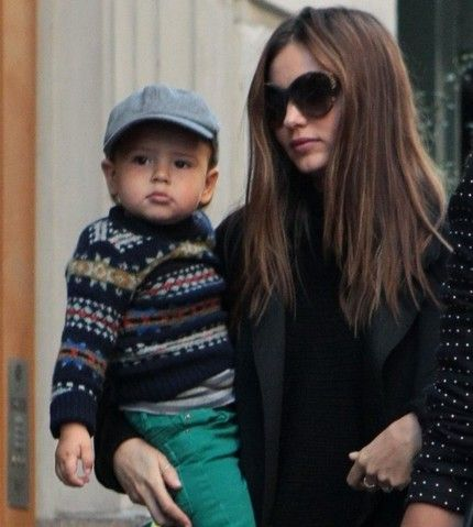 Alum; Miranda Kerr and her son Flynn leaving their home in New York.