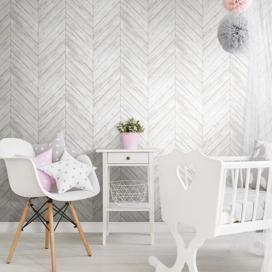 Herringbone Wood Boards Peel And Stick Wallpaper In 2020 Peel And Stick Wallpaper Herringbone Wood Herringbone Wallpaper