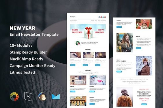 New Year  Responsive Email Template By Guiwidgets Templates On