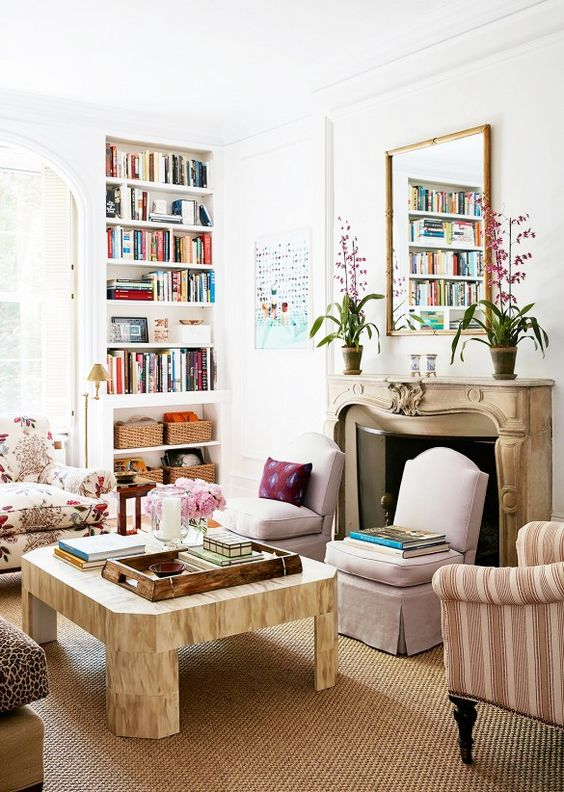Bookshelves.: