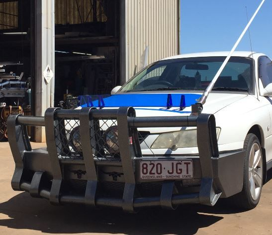 3 Inch Powdercoated Feral Thumper Boomer Bullbar For A Holden Vu Commodore Boomer Commodore Bug Deflectors
