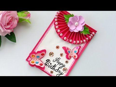 Beautiful Handmade Birthday Card Birthday Card Idea Youtube Greeting Cards Handmade Birthday Handmade Birthday Cards Card Making Birthday