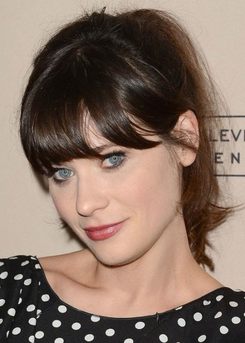 Zooey Deschanel Forehead 30 Best Hairstyles for...