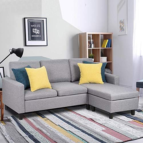 New Shintenchi Sectional Sofa Couch Convertible Chaise Lounge Modern Sofa Set Living Room L Shaped Couch Linen Fabric Small Space Grey Online Shopping T In 2020 Sectional Sofa Couch Grey Furniture