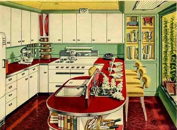 Sublime Mercies: Retro Kitchen: Formica and Chrome and Colours