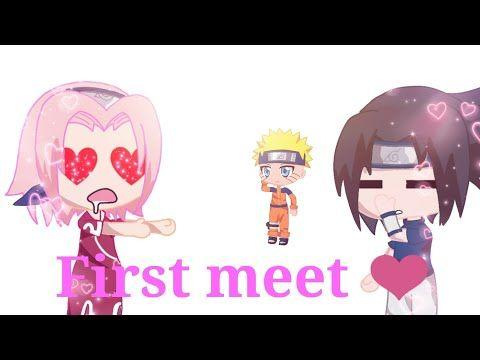 Narusasu First Meet Meme Gacha Life Naruto Youtube Narusasu Memes Naruto