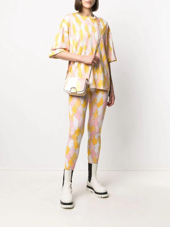 Emilio Pucci Losanghe Baby-print Leggings - Farfetch