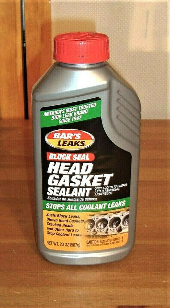New Sealed Bar S Leaks Block Head Gasket Sealant 20 Oz Stops All