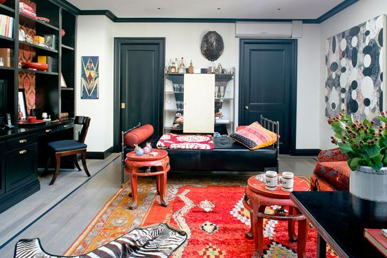 black and white bohemian  Sara Story | Projects | Gramercy Park Renovation