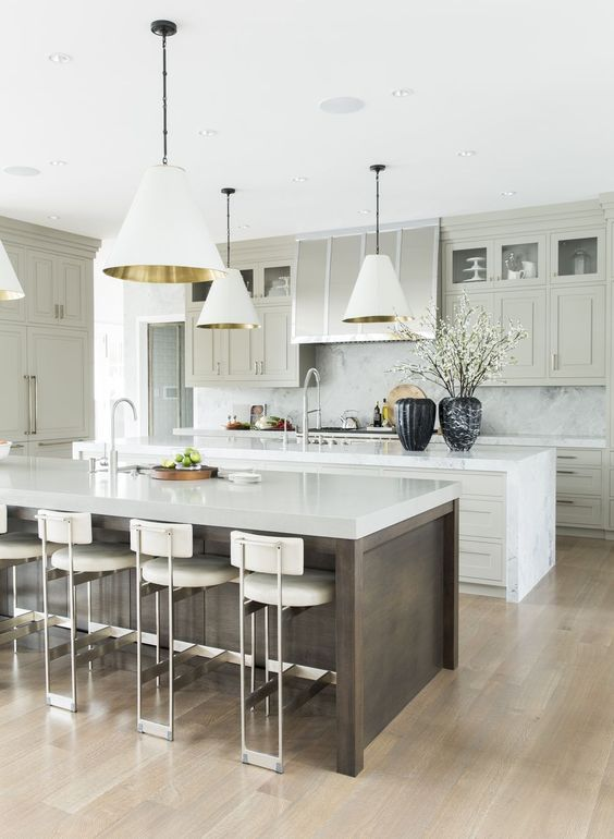 Double Kitchen Islands- ELLEDecor.com
