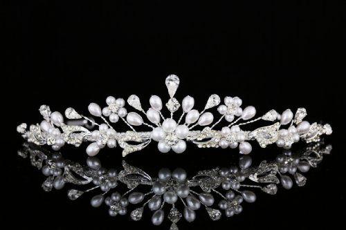 Handmade Bridal Flower Rhinestone Crystal Pearls Prom Wedding Crown Tiara T958 Venus Jewelry,http://www.amazon.com/dp/B00E6BN3CQ/ref=cm_sw_r_pi_dp_sxBBtb05M61WJAEM