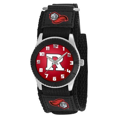 Game Time Mid-Size COL-ROB-RUT Rookie Rutgers Rookie Black Series Watch Game Time. $24.95. Metal case with stainless steel caseback and crown with limited lifetime warranty. Water-resistant to 99 feet (30 M). Japanese-Quartz analog movement. Durable, adjustable nylon strap with velcro. Metal dial with easy-to-read numerals