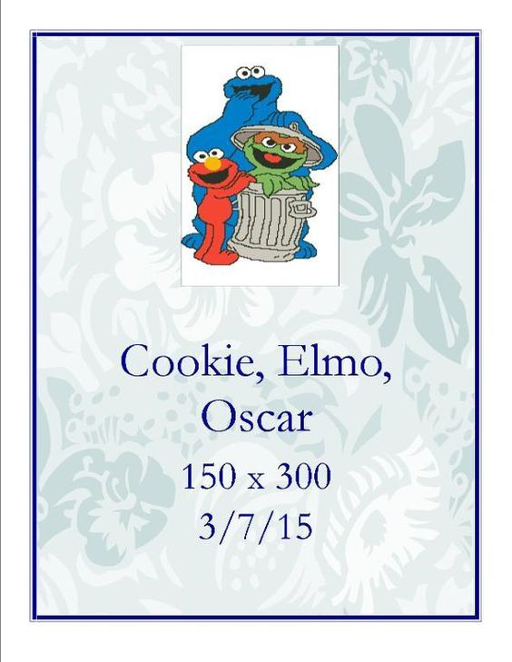 (4) Name: 'Crocheting : Cookie Elmo Oscar 150 x 300
